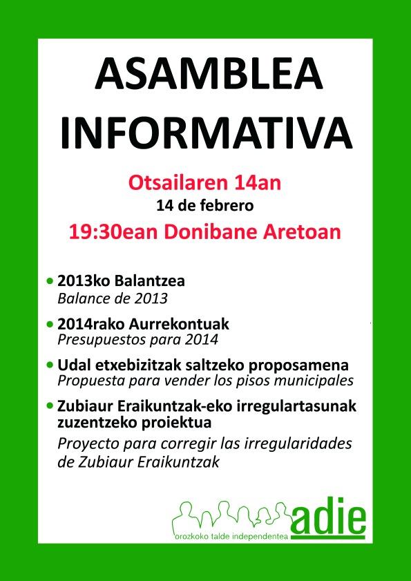Asamblea informativa febrero2014